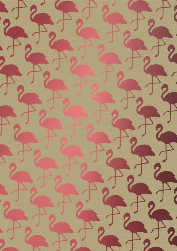 Roze flamingo cadeaupapier