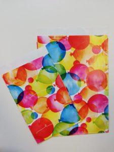 Cadeauzakjes, Watercolour Balloons K601660, per 250st