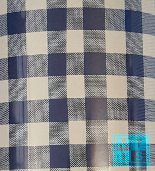 Cadeaupapier blauw geblokt MT2047 70cm Opruiming