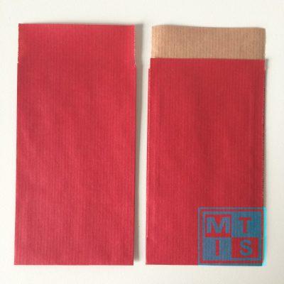 Cadeauzakjes, Rood 7x13cm. per 200st