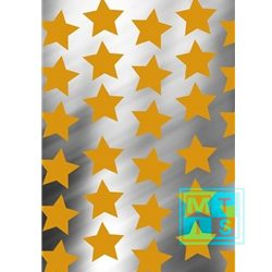 Kerstpapier 891427 Star In The Sky Gold