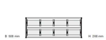 Krullinthouder - Bandafroller tbv 8 rollen: 2 lagen