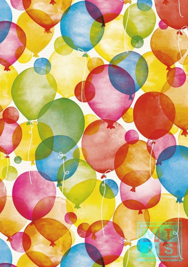 Ballon: wit kraftpapier K501660/1 Cadeaupapier