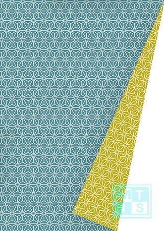 Cadeaupapier Chic Neon Petrol Mustard K601475-21