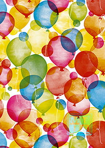 Ballon: Cadeaupapier Watercolour Balloons K601660