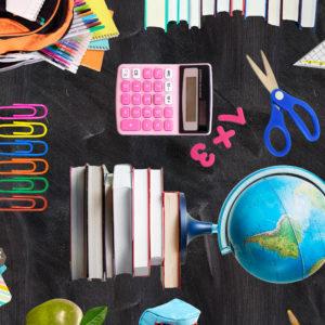 Cadeaupapier inpakpapier Love School