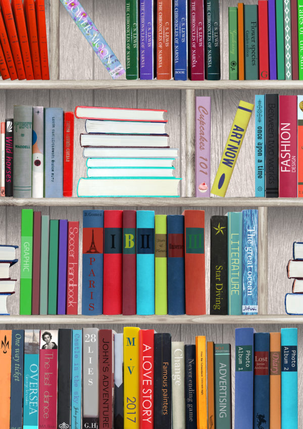 Cadeaupapier Boeken Bibliotheek