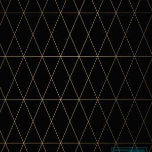Kerstpapier Geometric Black Gold