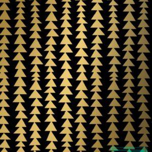 Kerstpapier Modern Forest Black/Gold K691661-3