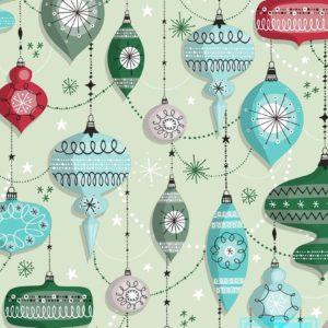 Cadeaupapier Kerstmis: Retro Christmas K691671-2