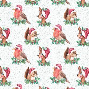 Kerst cadeaupapier Lovely Christmas Wit K691785-1