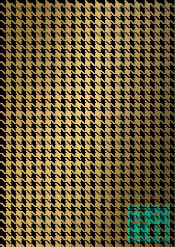 Kerstpapier Pied De Poule Black/Gold K69343/19