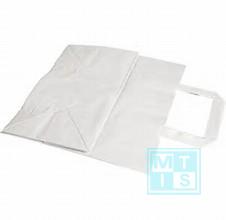 Kraft draagtas wit 45x17x48 150 stuks MTpapier