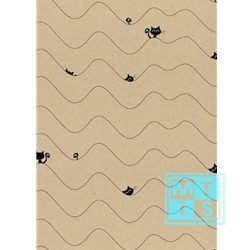 Cadeaupapier Nosy Cat Black, K101537