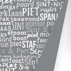 Sint Handlettering grey Cadeaupapier S691827-1