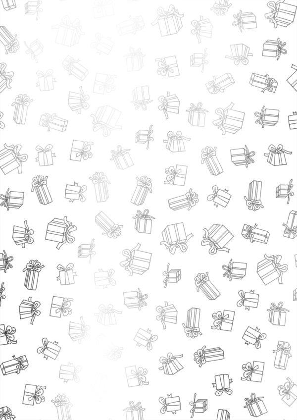 Sinterklaas cadeau papier S891080-3 - Pakjes wit