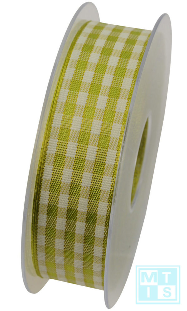 Textielband Geblokt Groen Schotland