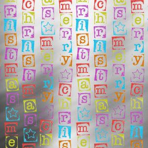 K891424-3 - Merry X-mas Stamps MTpapier Cadeaupapier