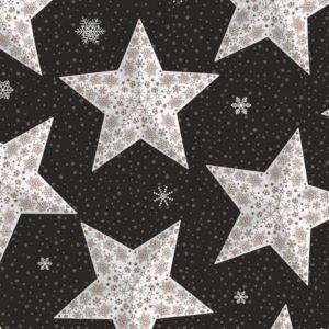Kerstpapier Paperstar Cadeaupapier Zwart Koper
