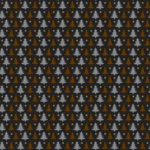 Cadeaupapier kerstmis: K691420 Mini Trees Black Copper