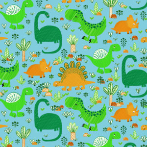 Kinderpapier Funny Dino Blauw K601738-1