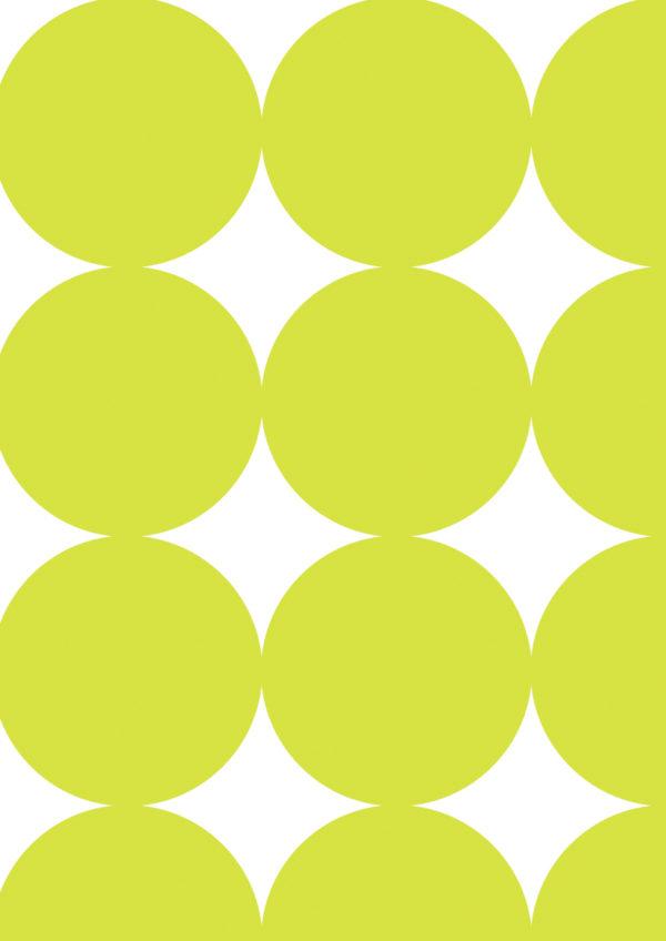 Cadeaupapier Grote Stippen Lime Groen