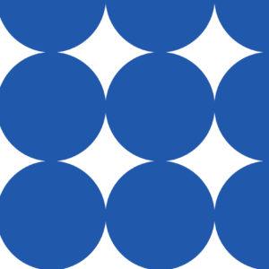 Cadeaupapier inpakpapier grote stippen blauw K601311-2
