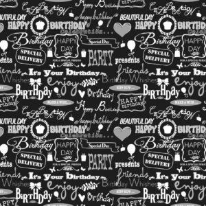 Cadeaupapier Verjaardag - Birthday Consumentenrollen, 6 rollen