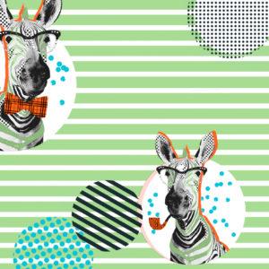 Cadeaupapier Zebra Consumentenrollen, 6 rollen