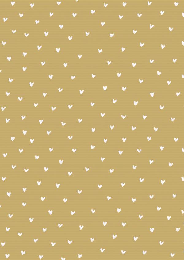 Inpakpapier met witte hartjes