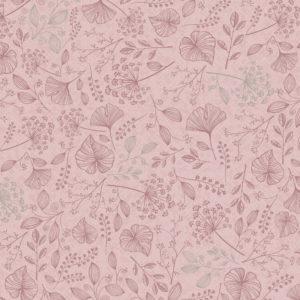 Cadeaupapier met takken, Roze K601757-2