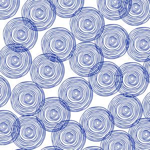 Cadeaupapier Blauwe Cirkels