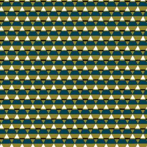 Cadeaupapier Driehoeken Petrol Groen