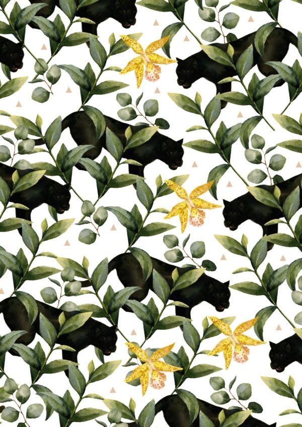 Cadeaupapier Jungle Zwarte Panter K601968-1