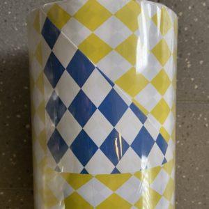 Geschenkpapier C4016 Blauw en Geel geruit