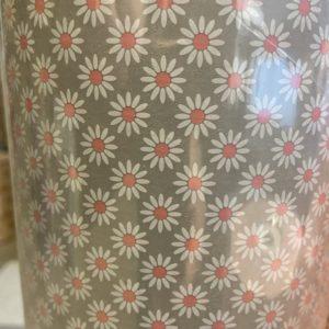 Geschenkpapier C4040 Bloemen Grijs Roze