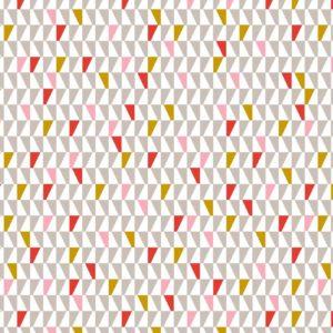 Geschenkpapier C4024 Driehoeken Rood Grijs