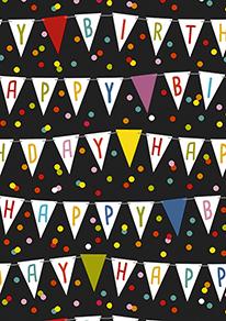Cadeaupapier Verjaardag: Happy Birthday K606142/1 C4003