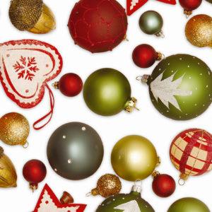 Cadeaupapier Kerstballen