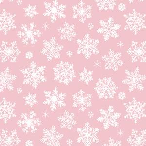Cadeaupapier Snow Crystals Lichtroze