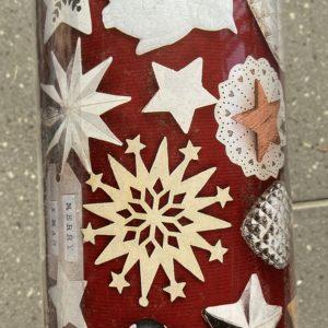 Cadeaupapier Merry Xmas Bordeaux