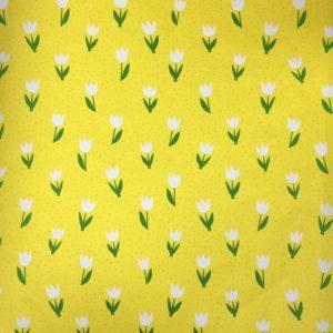 Cadeaupapier Tulpen Geel Consumentenrollen, 6 rollen