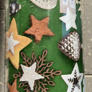 Cadeaupapier Merry Xmas Groen