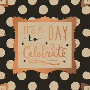 Cadeaupapier Verjaardag - It's a Day to Celebrate Consumentenrollen, 6 rollen