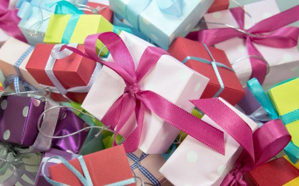 Cadeau inpepakt in papier