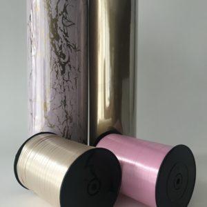 Marmer Roze Goud & Krullint pakket Cadeaupapier