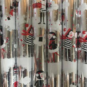 Kleine rollen inpakpapier 150 x 70cm Kisses