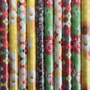 Cadeaupapier 10 Kleine rollen 150x70cm Bloemen Planten