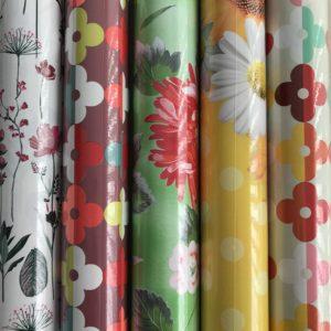 Cadeaupapier 5 Kleine rollen 150x70cm Bloemen Planten