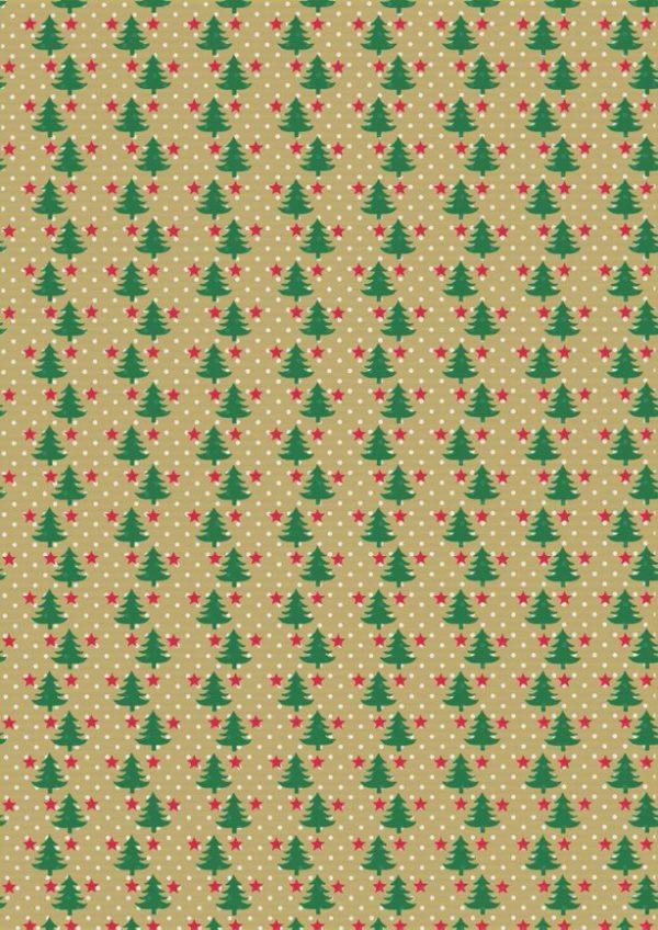 Kerst papier Kraft Kerstbomen